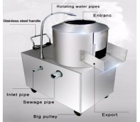 Two Types of Potato Peeling Machines are Available
